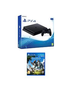 playstation-4-slim-1tb-black-console-with-horizon-zero-dawnnbspplus-optional-extra-controller-andor-12-months-playstation-network