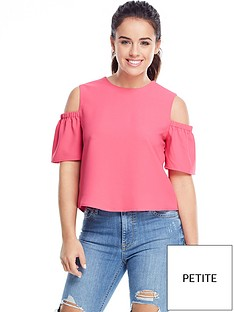 v-by-very-petite-cold-shoulder-swing-top