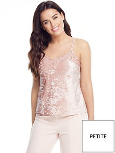 v-by-very-petite-lace-trim-velvet-cami