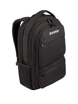 Wenger Wenger Fuse 16 Inch Laptop 20 Litre Backpack, Padded Laptop Compartment With Ipad/Tablet /Ereader Pocket Black