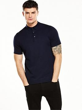 river-island-short-sleeve-knitted-polo