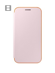 samsung-2017-stylish-neon-flip-wallet-cover-for-galaxy-a3-pink