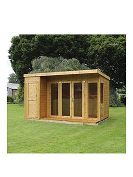 mercia-12-xnbsp8ft-premium-garden-room-summerhouse-with-side-shed