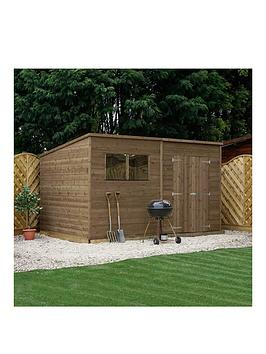 mercia-10-xnbsp8ft-pressure-treated-shiplap-pent-shed