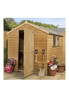 mercia 8 x 6ft overlap apex shed - Garden Sheds Very