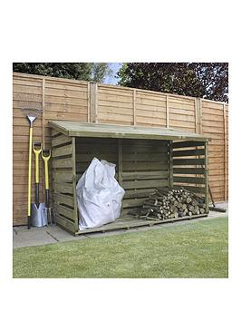 Double 6ft W x 2.5ft D Wooden Log Storage Shed Best Price and Cheapest