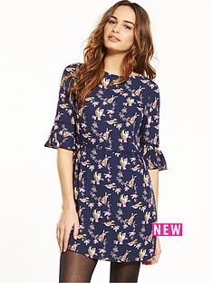 oasis-lotus-bird-flippy-skater-dress