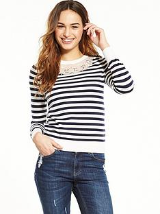 oasis-oasis-embellished-neck-stripe-knit-jumper