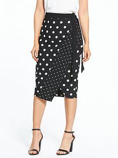oasis-spot-print-wrap-skirt
