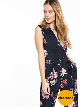wallis-floral-wrap-jumpsuit-ndash-navy