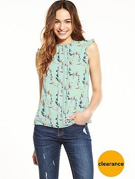 oasis-oasis-lotus-bird-split-sleeve-shell-top