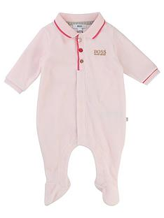 boss-baby-girls-velour-babygrow