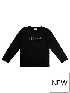 boss-boys-black-logo-t-shirt