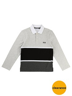 boss-boys-colourblock-long-sleeve-polo