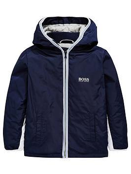 boss-boys-coated-hooded-windbreaker