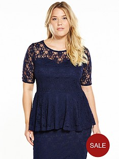 v-by-very-curve-curve-lace-co-ord-peplum-top-navynbsp