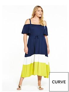 v-by-very-curve-curve-jersey-colour-block-midi-dress