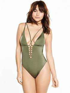 river-island-lace-up-plunge