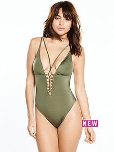 river-island-river-island-lace-up-plunge-swimsuit