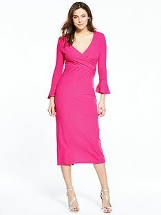v-by-very-fluted-sleeve-jersey-dress