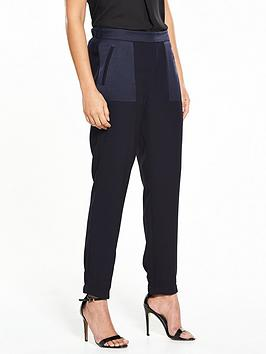 wallis-selenia-satin-back-crepe-jogger-navy