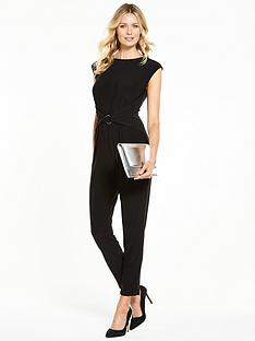 wallis-ring-detail-stretch-jersey-jumpsuit-black