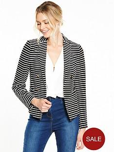 wallis-double-breasted-stripe-jacket-monochrome