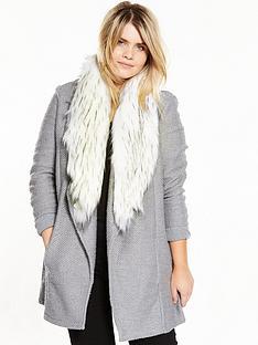 ri-plus-fur-trim-jersey-jacket