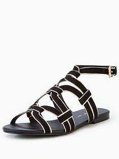 v-by-very-trina-caged-flat-sandal-black