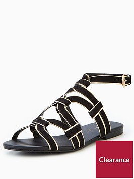 v-by-very-trina-caged-flat-sandal-black