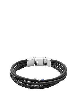 fossil-fossil-tri-tone-mens-leather-wrap-bracelet
