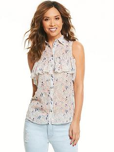 myleene-klass-sleeveless-ruffle-front-blouse