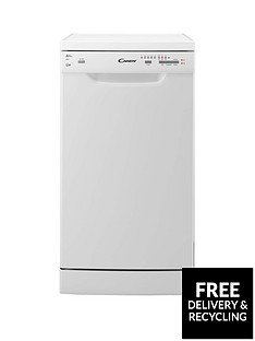 Candy CDP2L1049W 10-Place Slimline Dishwasher - White