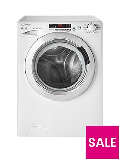 Candy GVSW496DC9kgWash,6kgDry, 1400 Spin Washer Dryer with Smart Touch - White/Chrome