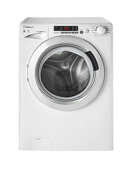 Candy Gvsw496Dc 9Kg Wash, 6Kg Dry, 1400 Spin Washer Dryer With Smart Touch - White/Chrome