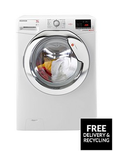 Hoover Dynamic NextDXOA610HCW 10kgLoad,1600Spin Washing Machine with One Touch - White/Chrome