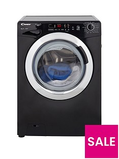 Candy Grand'O Vita GVS148DC3B 8kg Load, 1400 Spin Washing Machine with Smart Touch - Black
