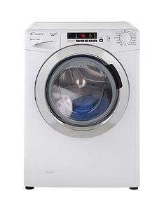 Candy GVS149DC3 Grand'O Vita 9kg Load, 1400 Spin Washing Machine with Smart Touch - White/Chrome