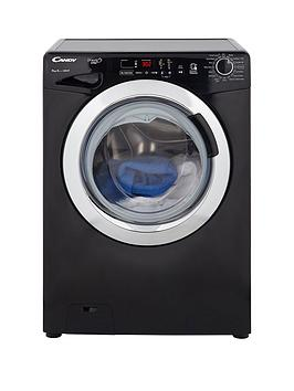 Candy Gvs149Dc3B Grand'O Vita 9Kg Load, 1400 Spin Washing Machine With Smart Touch - Black/Chrome