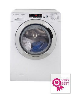 Candy Grand'O Vita GVS1410DC3 10kg Load, 1400 Spin Washing Machine with Smart Touch - White