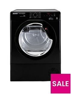 Hoover DNCD91BBB Dynamic 9kg Load Aquavision Condenser Sensor Tumble Dryer - Black