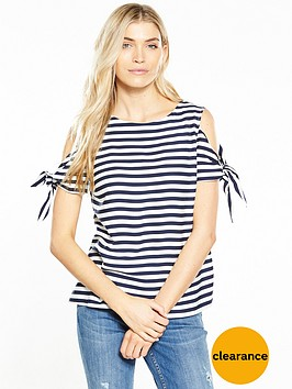 oasis-stripe-tie-shoulder-top-navy