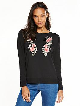 oasis-embroidered-puff-sleeve-sweat