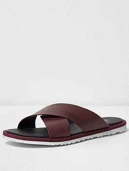 river-island-river-island-mens-cross-over-leather-sandal
