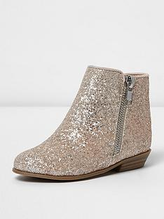 river-island-river-island-mini-girls-glitter-western-zip-boot