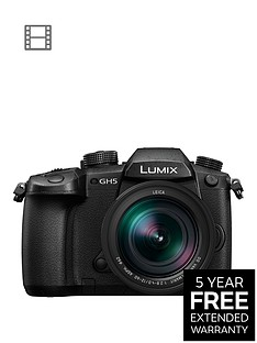 panasonic-dc-gh5leb-k-lumix-g-203-megapixel-compact-system-camera-nbsp12-60mm-leica-dg-lensnbspwith-extended-5-year-warranty-available