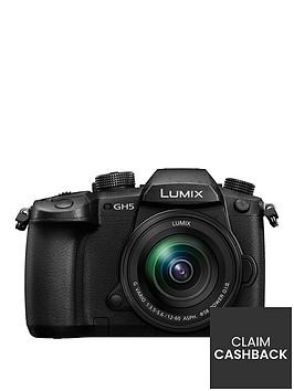 panasonic-dc-gh5meb-k-lumixnbspg-system-cameranbspbluetooth-wi-fi-5ghz-hdmi-type-a-usb-31nbsplumix-g-lenses-black-pound150-cash-back-available