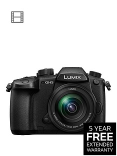 panasonic-lumix-g-dc-gh5meb-k-nbspcompact-system-camera-with-lumix-12-60mmnbspois-interchangeable-lens-4k-uhd-203-mp-wi-fi-olednbsplive-viewfinder-32-lcdnbspvari-angle-touch-screen