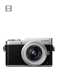 panasonic-dc-gx800kebs-lumix-compact-system-mirrorless-camera-with-12-32mm-lens-silver