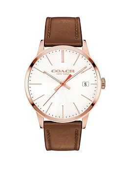 coach-coach-metroplitan-white-dial-rose-tone-case-tan-leather-strap-mens-watch